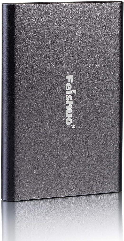 ポータブル外付けハードドライブUSB3.0 SATA HDDストレージ 250G グレー