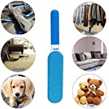 Pet Fur Hair Remover Brush With Self Cleaning Base-Blue