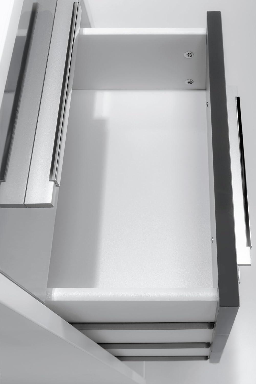 grau Hochglanz Abmessungen BxHxT: 42,1 x 214,5 x 40 cm Icy-wei/ß MAJA-M/öbel 1230 3974 Aktenregal mit 4 Schubladen