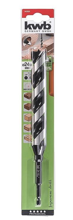 kwb Akku-Top 3-S Japan Schlangenbohrer 26 mm Holz-Bohrer mit Sechskant-Schaft 1//4