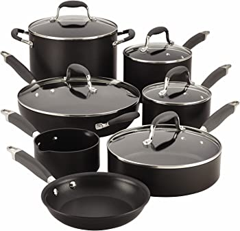 Anolon Advanced 12-Piece Hard-Anodized Nonstick Cookware Set