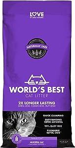 WORLD'S BEST CAT LITTER Multiple Cat Unscented, 32-Pounds