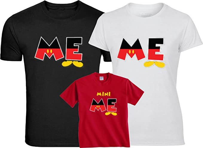 989a85a7b Mickey & Minnie Me Mini Me Tshirts Funny Cute Custom Matching Shirts XS  Youth (5