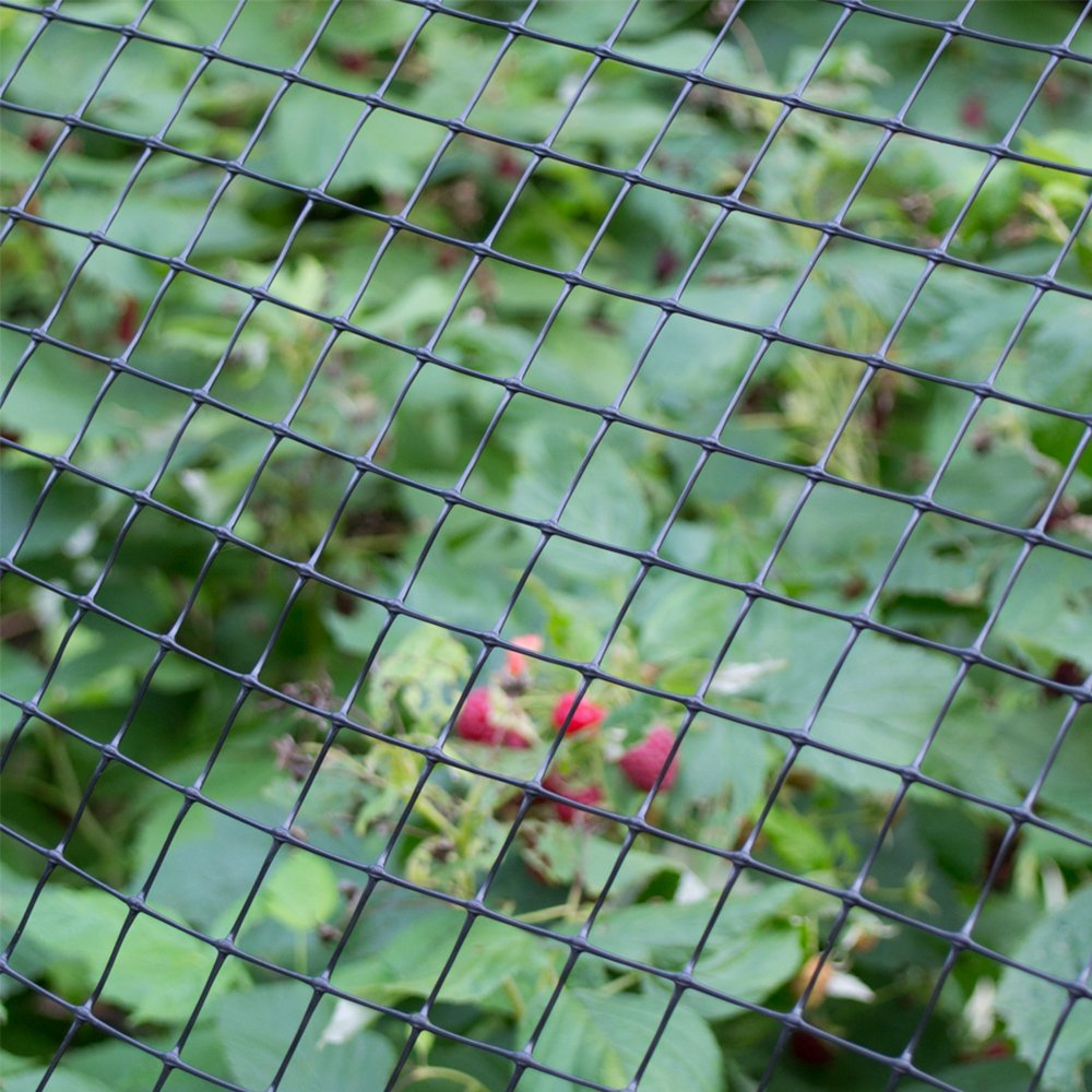 2 Foot by 25 Foot Black Plastic Multi-Purpose Netting Fence YARDGARD 889522A 1.25 Inch by 1 Inch Mesh