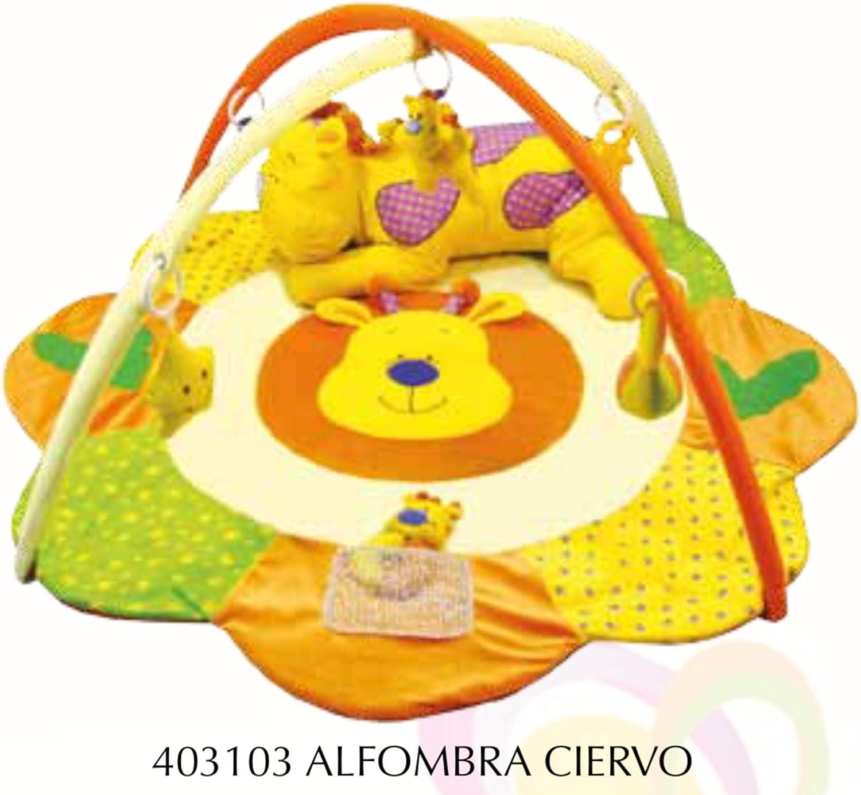 Alfombras de juego y gimnasio para bebés, mantas de actividades ciervo mundibebe.