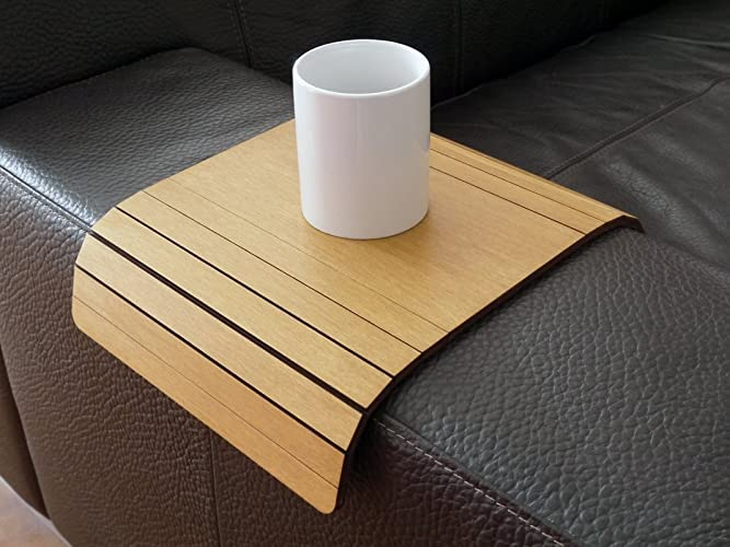 Amazoncom Wooden Couch Arm Tray Table 28 Colors As Light Walnut