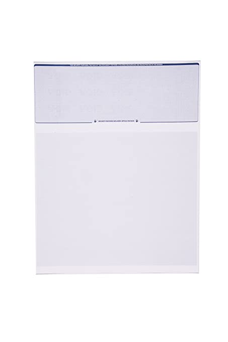 amazon com check o matic computer check paper pack of 100 blank