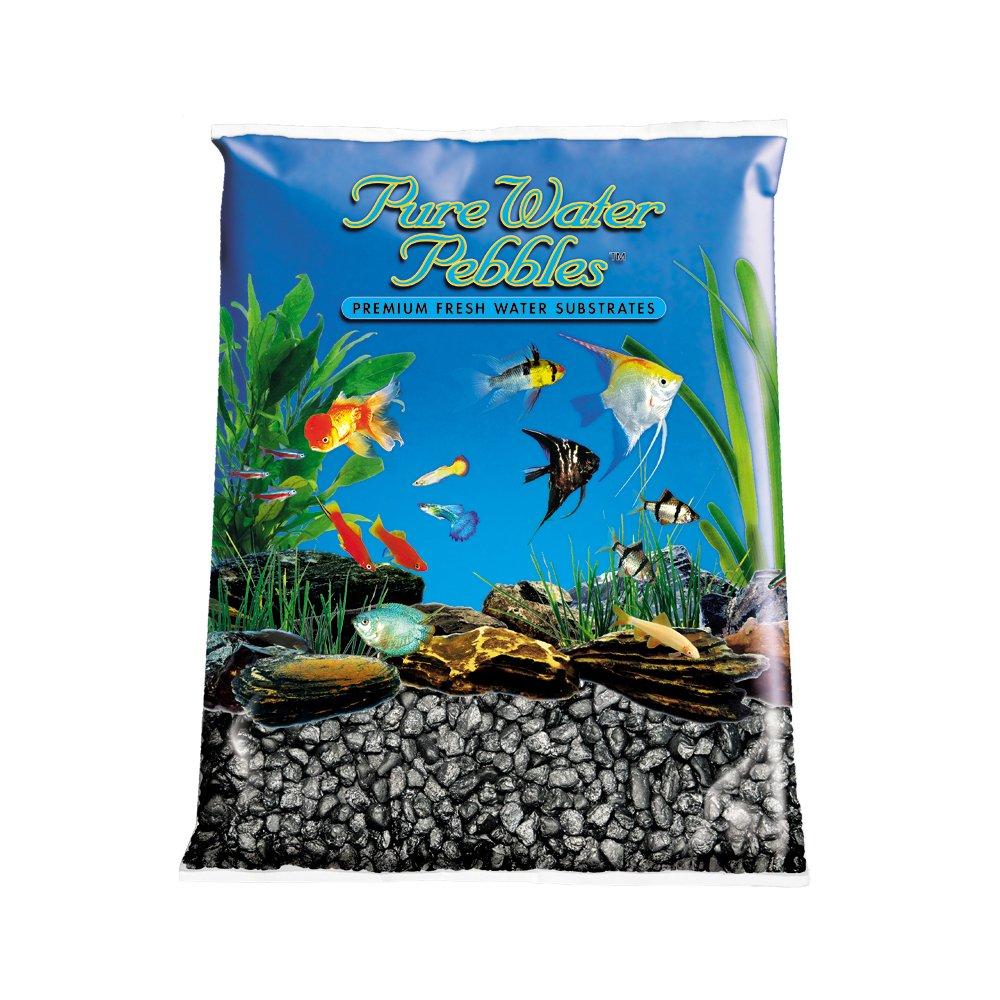 Pure Water Pebbles Aquarium Gravel, 25-Pound, Black Frost