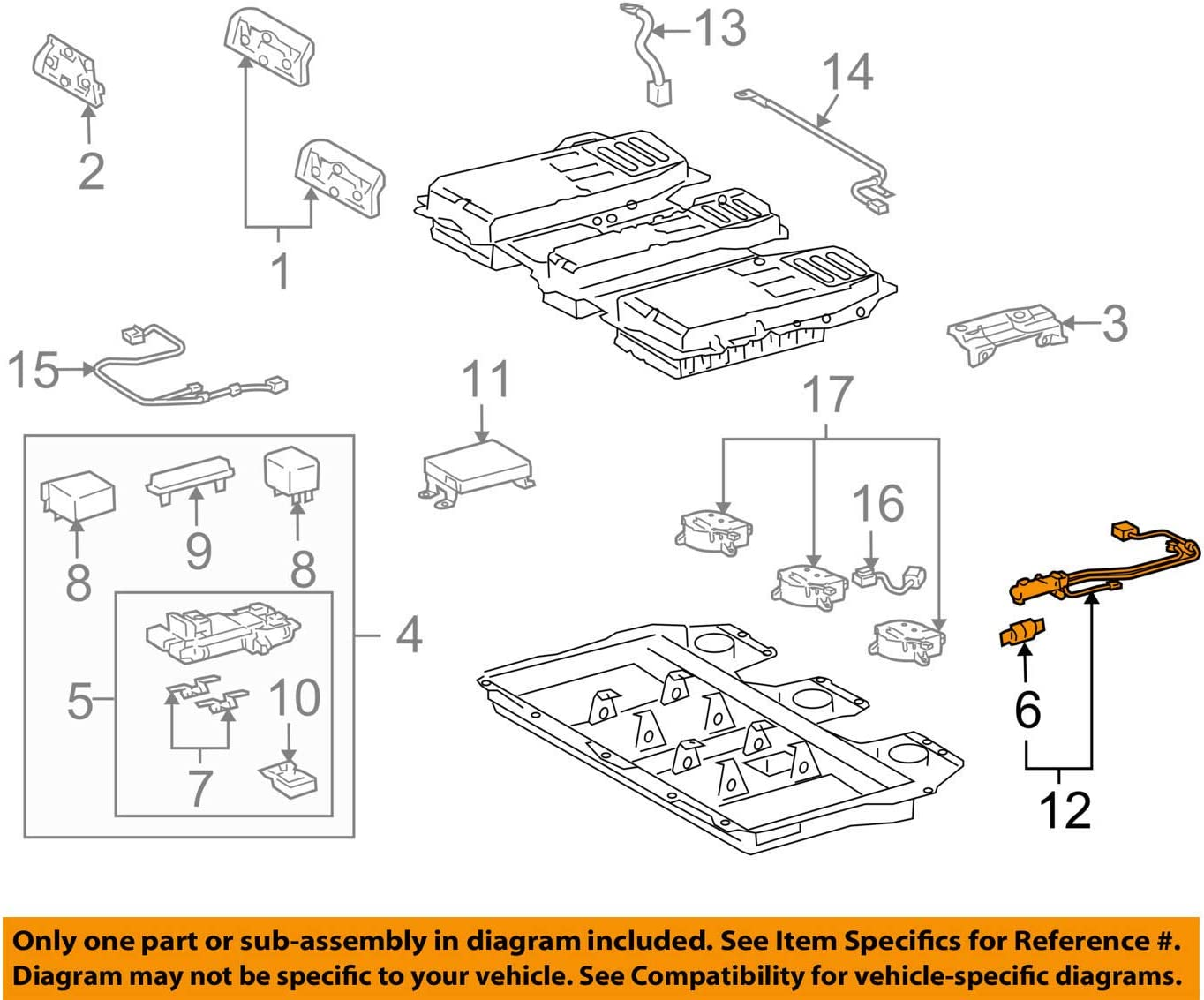 TOYOTA G3830-48011 Electric Vehicle Battery Plug Assembly