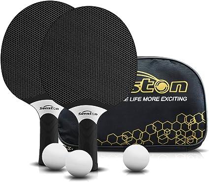 Professionnel Table Tennis Racquet Approuv/ée par ITTF pour Les activit/és en Famille Senston Raquettes de Tennis de Table Ping-Pong /École et Club de Sport