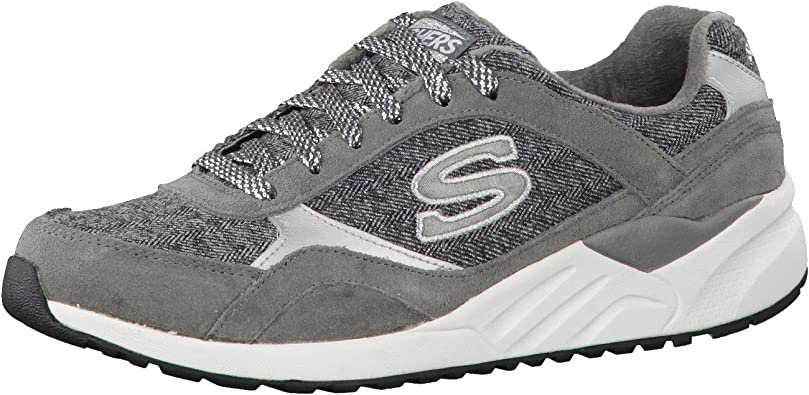 Skechers - Zapatillas de running para mujer, color gris y blanco, talla 35: Amazon.es: Zapatos y complementos