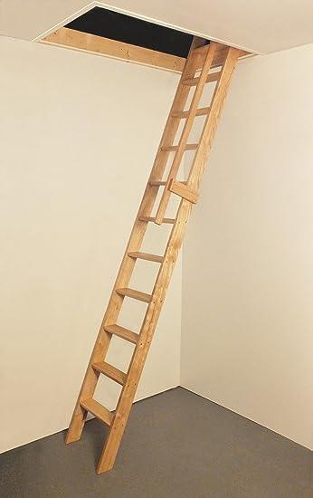 Ash recto vuelo madera Escalera para desván C/W madera pasamanos: Amazon.es: Bricolaje y herramientas