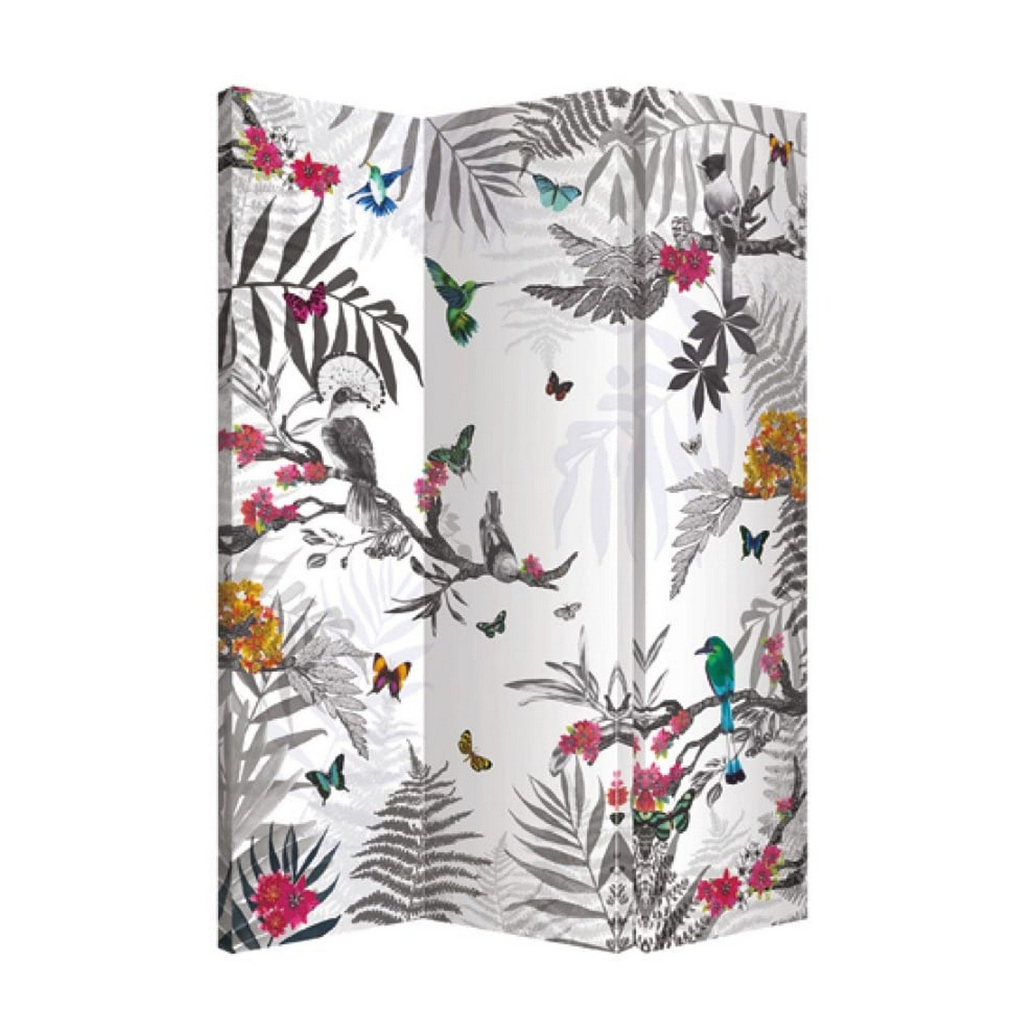 Arthouse Room Divider, Polyester, Multi Coloured, 150 x 120 x 2.5 8300