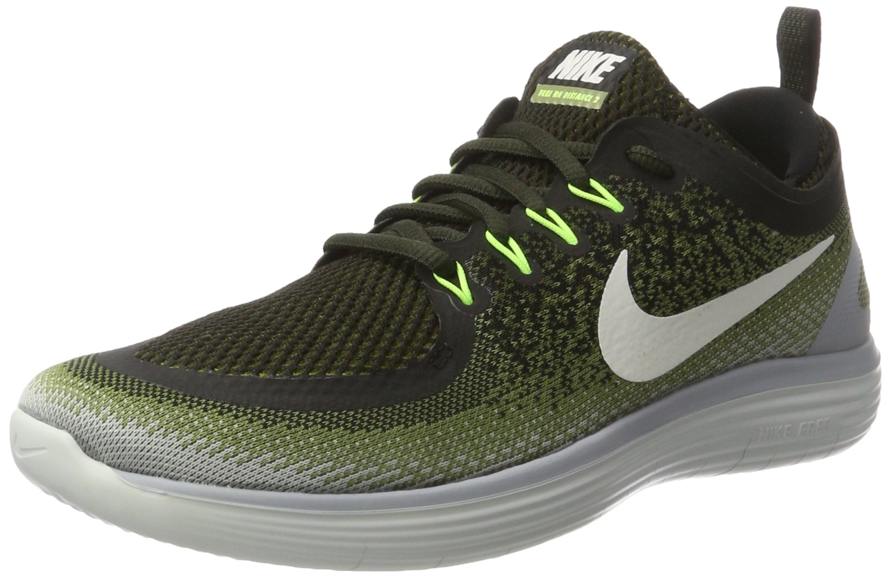 Nike Men's Free RN Distance 2 Legion Green White Palm Green 863775 300 (8.5)