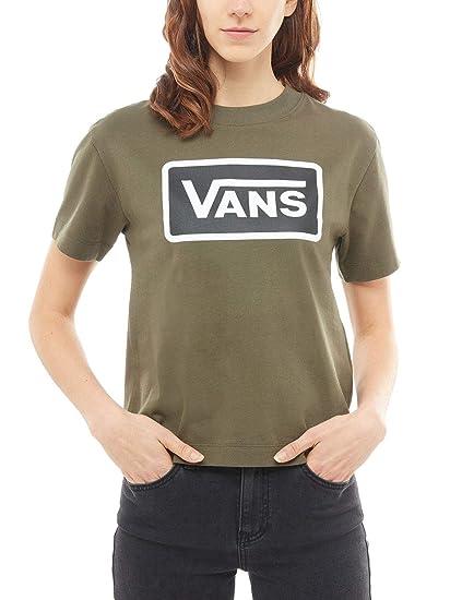 30155acc5cd73b Vans Grape Leaf Boom Boom Boxy Womens T-Shirt  Vans  Amazon.co.uk  Clothing
