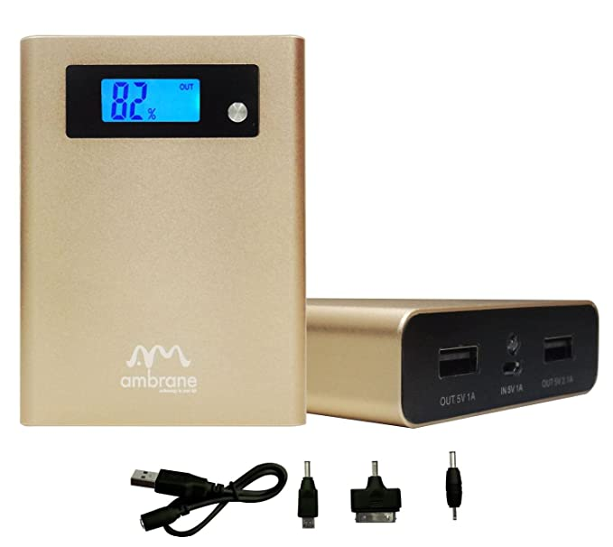 Ambrane P 1040 10400mAh  Power Bank   Black Power Banks