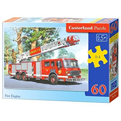 Castorland B-06595-1 - Puzzle - Véhicule de Pompiers - 60 Pièces