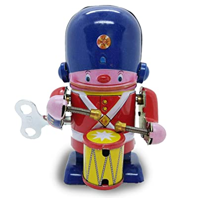 COZY LADYCRAFT Soldier Drummer Vintage Windup Retro Tin Toy: Toys & Games