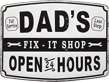 If Grandpa Can/'t Fix it No One Can Aluminum 8x12 Wall Hanging Sign Gift for Papa