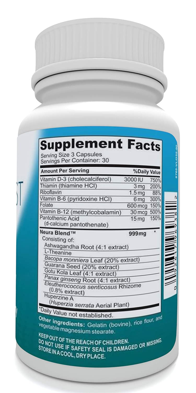 Amazon.com: Mind-First Brain Supplement - Cognitive Balance Formula - Multi-Ginsengs, Huperzine A, L-Theanine, Gota Kola (90 Capsules): Health & Personal ...