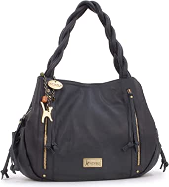 Catwalk Collection Handbags - Women's Leather Tote/Shoulder Bag - CAZ