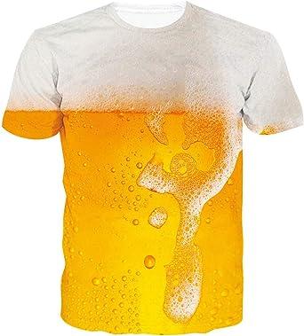 ALISISTER Unisex Camisetas 3D Divertidas Impresa Manga Corta Verano T-Shirt Top S-XXL