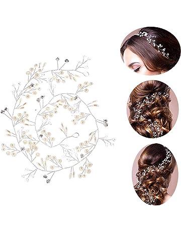 3bc6a1126332 50cm Tocado Diadema para el Pelo de Novia Tiara Corona de Flores Mujer  Adornos Accesorios para