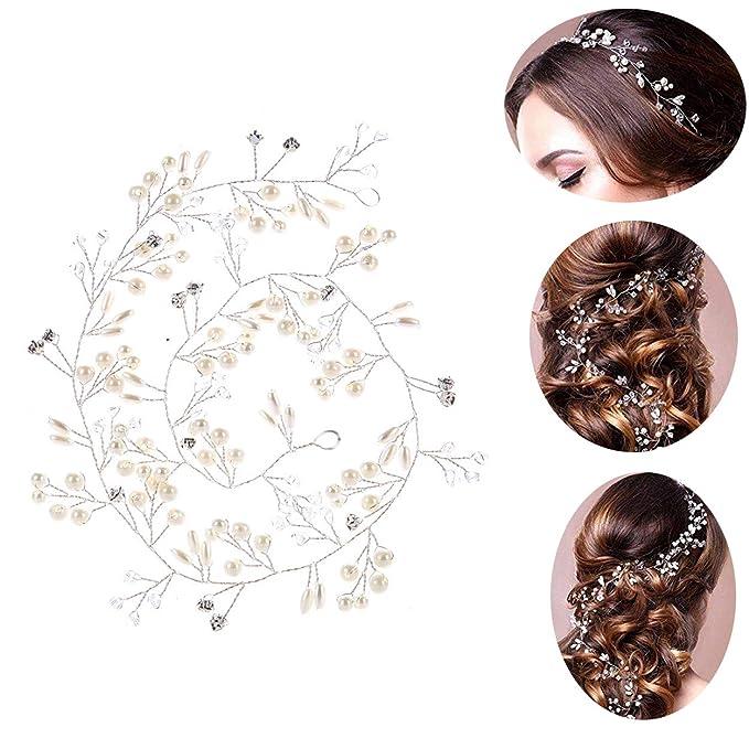 Tiara corona de flores adorno para el cabello novia para boda o fiesta.