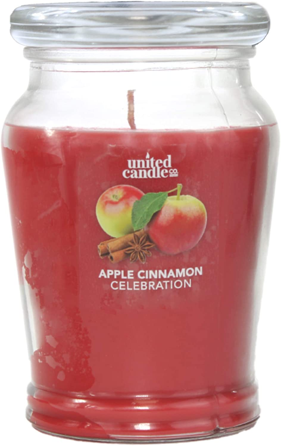Candle Universe Jar Candles | Scented Holiday Candles | Richly Fragranced 12 oz - Apple Cinnamon Celebration