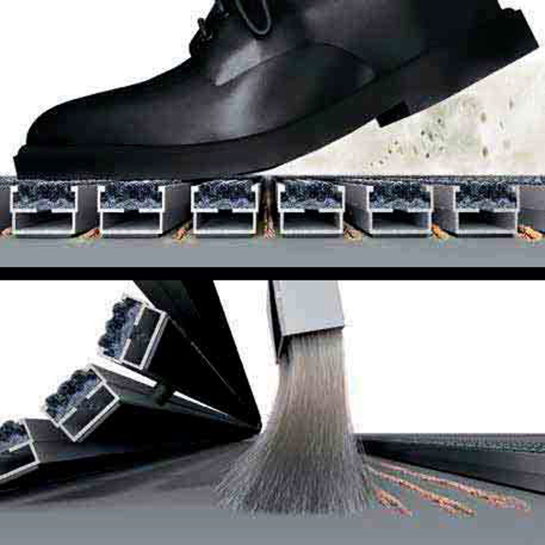EMCO Eingangsmatte DIPLOMAT 22mm B/ürsten grau Fu/ßmatte Schuhabstreifer ALU T/ürmatte Abstreifer Gr/ö/ße:590 x 390 mm