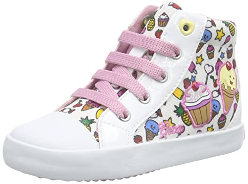 Geox Jr Ciak B, Baskets Hautes Fille, Rose (Pink), 25 EU