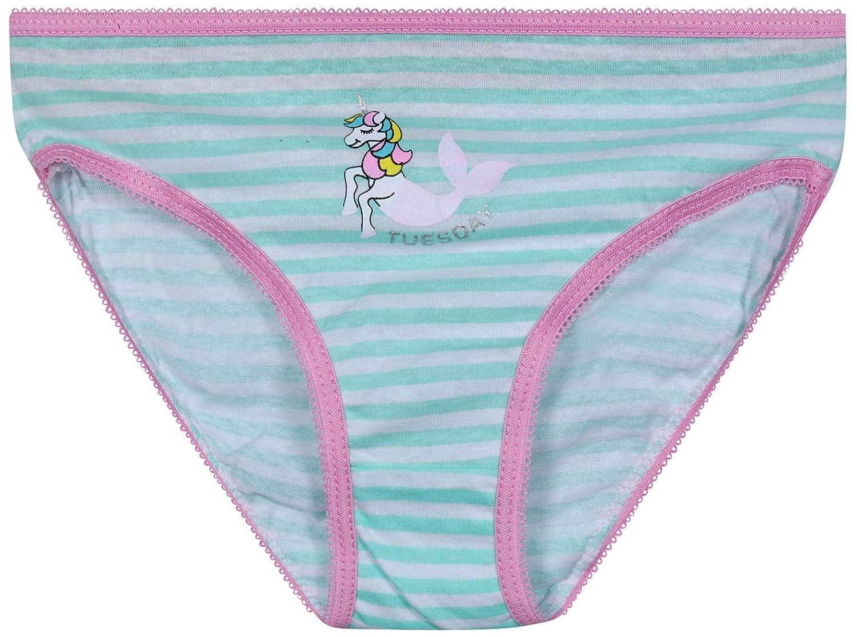 7 Pack Sweet /& Sassy Girls Bikini Underwear 7 Days of The Week