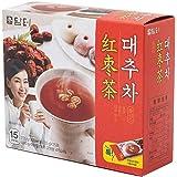 DAMTUH Korea Traditional Jujube Tea Plus, Jujube Powder Tea, Single Serving Packets, 15 Count