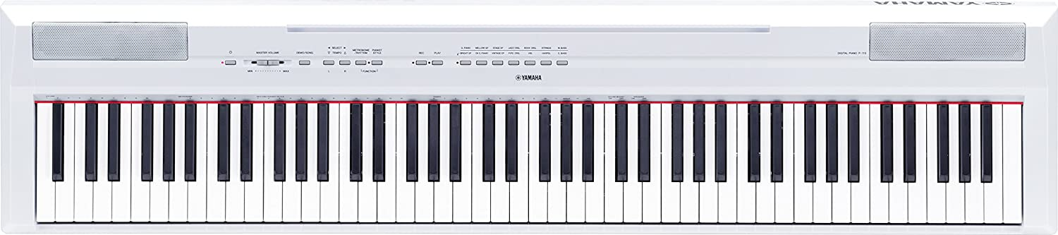 Yamaha P WH Piano digital color blanco