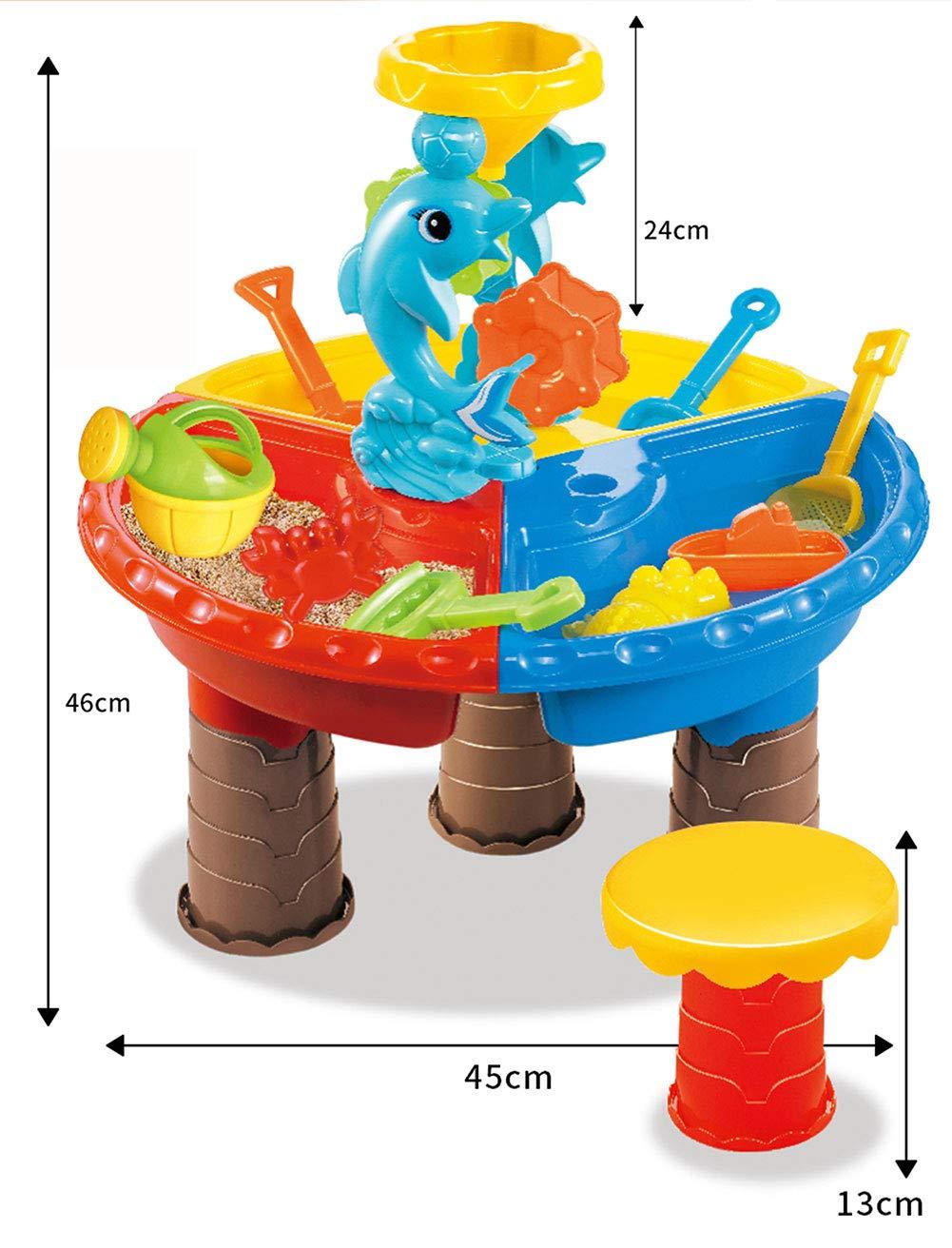 Rclhh Mesa de Juego de Arena y Agua - 2 en 1 Mesa de plástico para ...