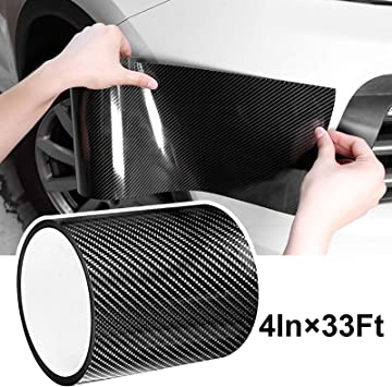 Black 4In x 33Ft Automotive Anti-Collision Strip for Car Door Edge//Front and Rear Bumper//Door Sill Protector Fits for Most Car Universal Car Door Edge Guard Door Sill Protector