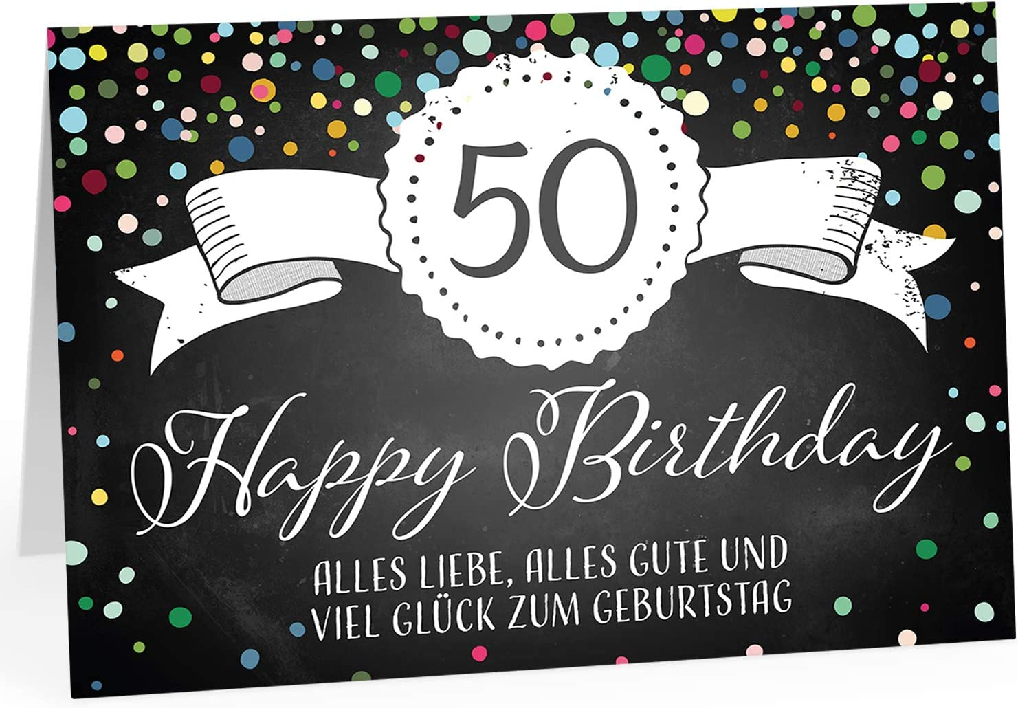50 Geburtstagskarten Geburtstagskarte Glückwunschkarten Grußkarten 514980 TA