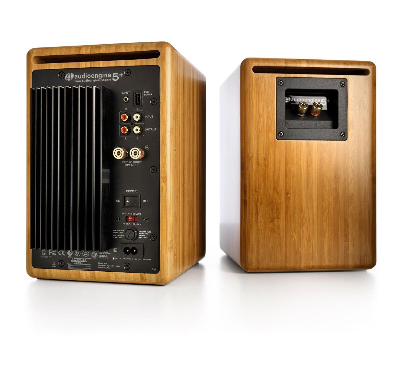 Audioengine A5+ Powered Desktop Speaker (Pr) - Bamboo w/DS2 Desktop Speaker Stands Bundle by Audioengine (Image #3)