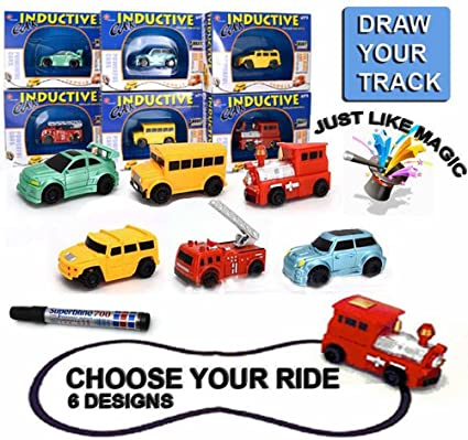 amazon com 1pc follow any drawn line magic pen inductive toy car