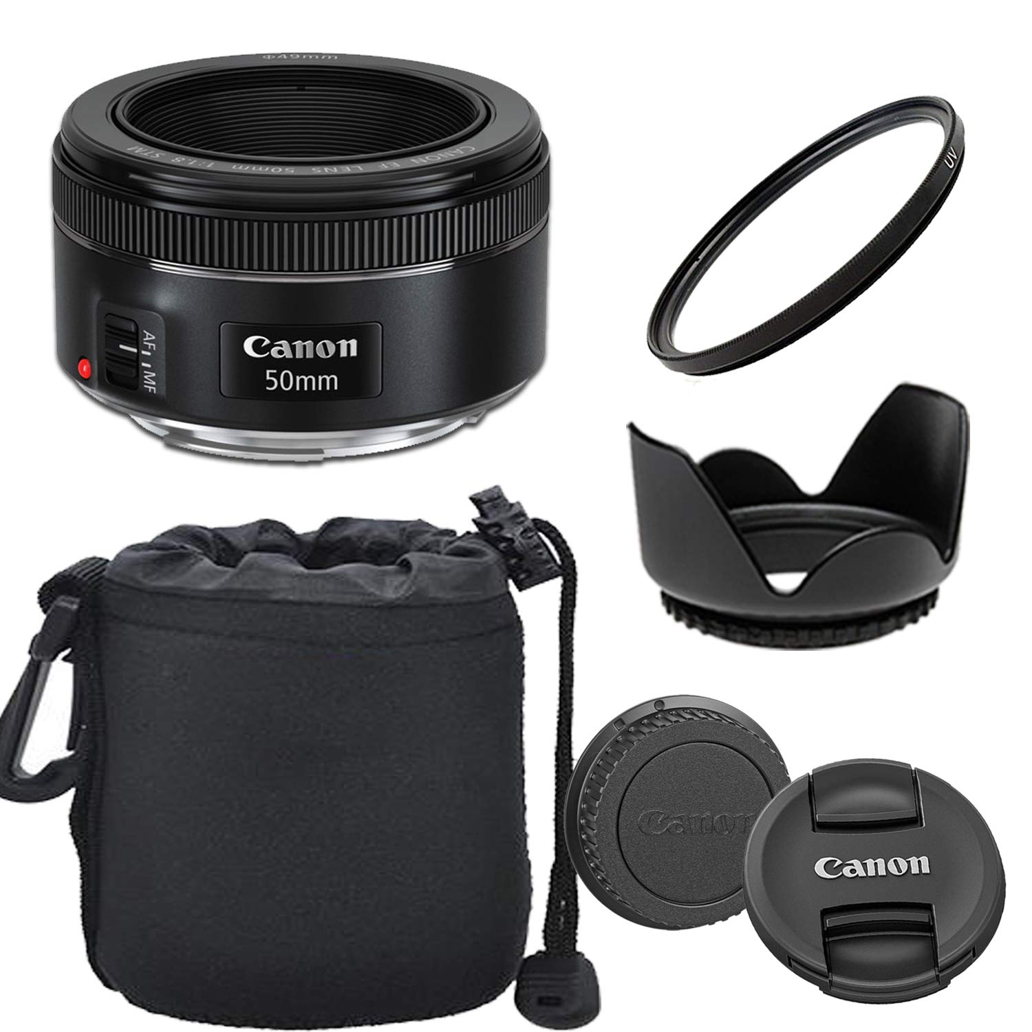 Canon EF 50mm f/1.8 STM Lens with Optimal Accessory Bundle by Canon (GP)