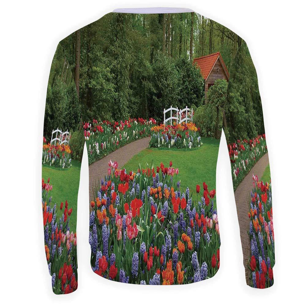 MOOCOM Mens Country Home Decor Sweatshirt Pullover