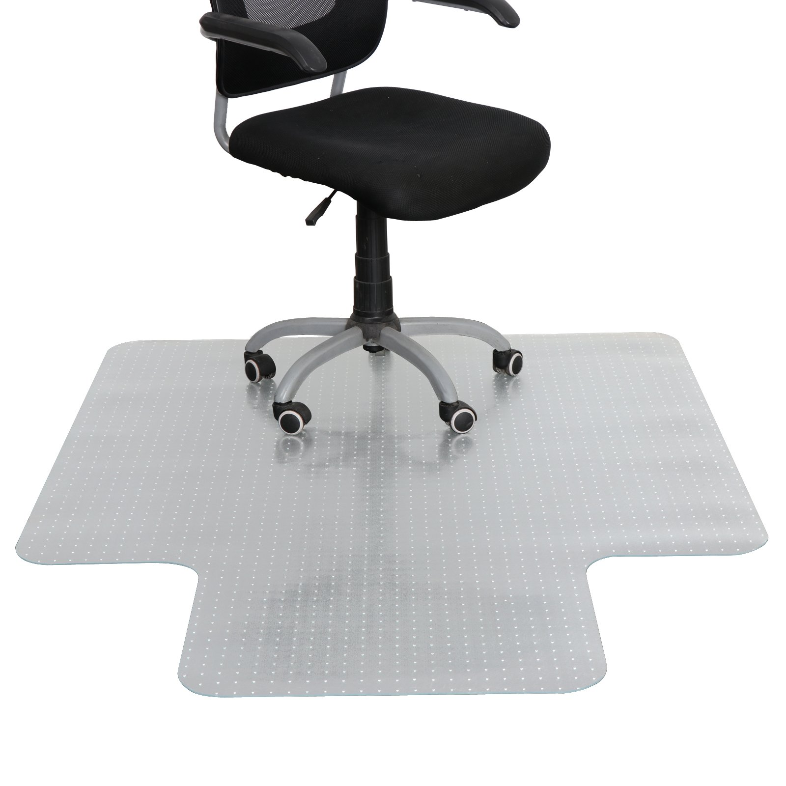 HomGarden 48'' X 60'' 1/8'' with Lip Carpet Chair Mat Transparent for Low and Medium Pile Carpets Desk Chair Mat, Home Office Floor Protector