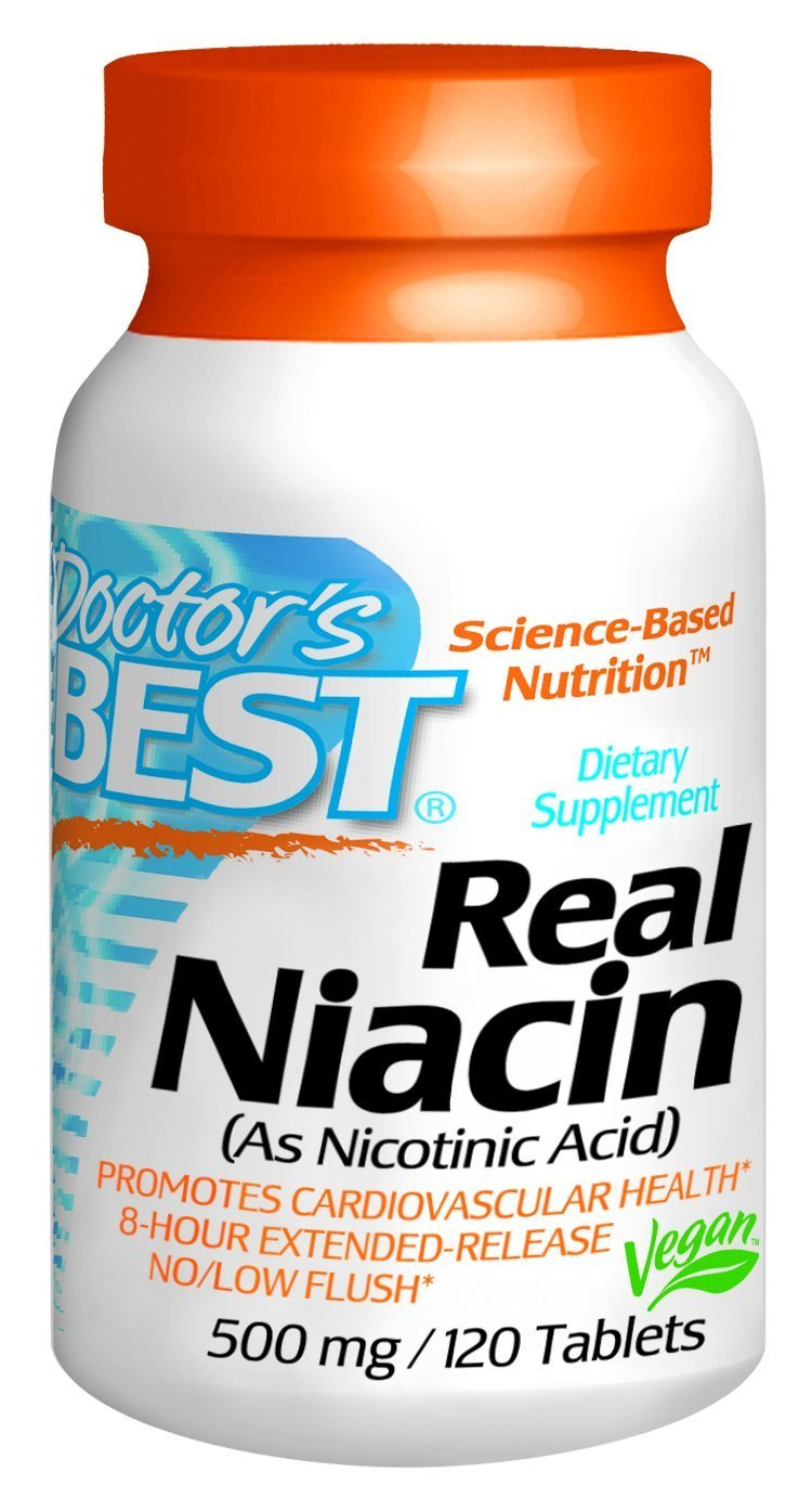 Doctor's Best Real Niacin (Extended Release) (500mg), 360-Count Pack (ts2wde) Doctor's-jrre