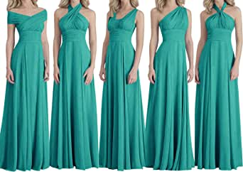 Bridesmaid Dresses Long Prom Dresses Multiple Wearing Methods Bridesmaid Gowns