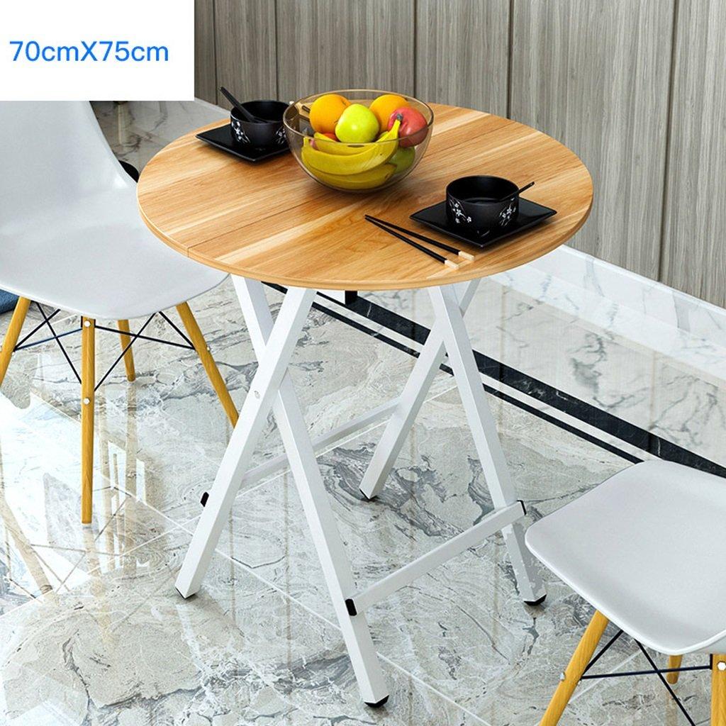 Tableau de salle à manger de table ronde de ménage pliant la table de balcon de bureau d'ordinateur de salon de
