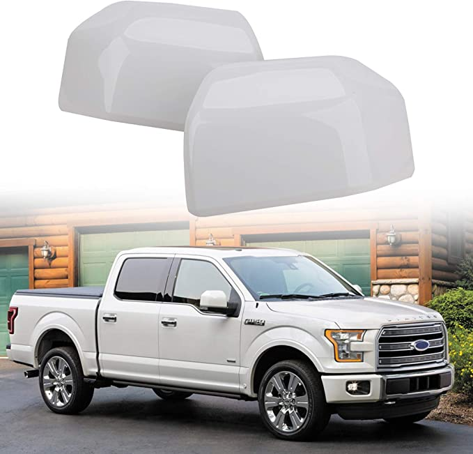 Carbon fiber Rearview Mirror Side Cap Cover Trim Fits Ford F150 F-150 2015-2020