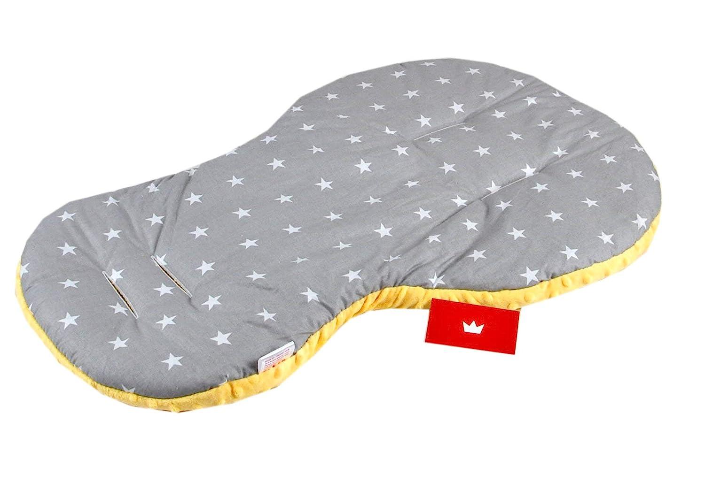 1. Minze + Dino, 1 Tlg Sitzauflage BABYLUX Kinderwagen SITZAUFLAGE Kissen Gurtschoner f Buggy Autoschale Einlage