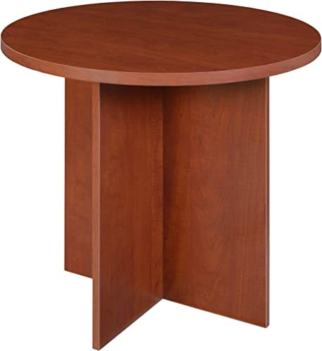 Niche Mod Round Table with No-Tools Assembly, 30 , Cherry