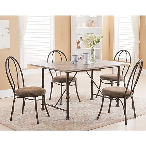 Amazon.com: K & B Mobiliario Lenox silla de comedor ...