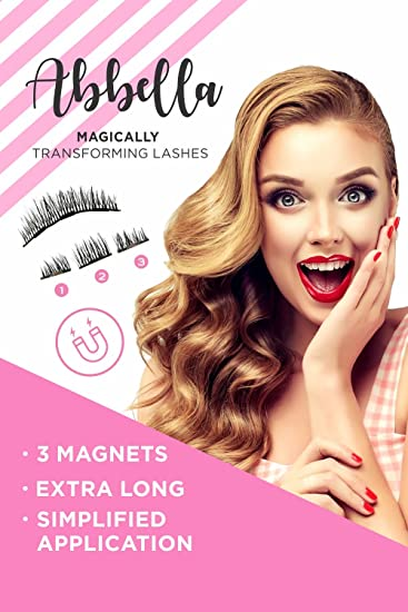 f92be5b0d8f Amazon.com : 8x Magnetic Eyelashes [No Glue] Premium Quality False Eyelashes  Set for Natural Look - Best Fake Lashes Extensions One Two Cosmetics 3D ...